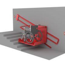 Наклонный инвалидный подъемник